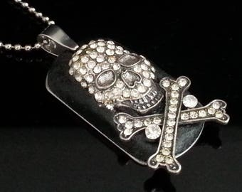 Skull Necklace | Pirate Necklace | Pirate Jewelry | Skull Jewelry | Skull and Bones Necklace | Dawn Santucci | popskullpture