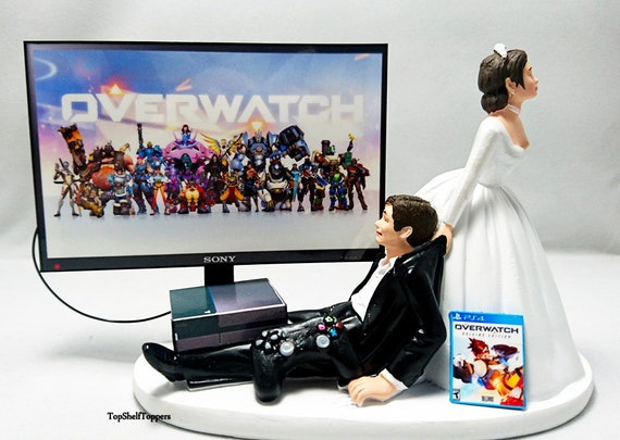 xbox one wedding cake wedding cake topper 0verwatch gamer xbox one ps4 custom 27673