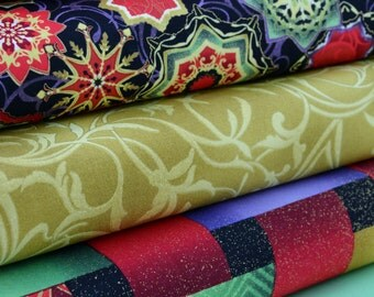 Christmas Fabric Bundle, Christmas Fabric, Reflections, Fabric Bundles, 5 fabrics, B362