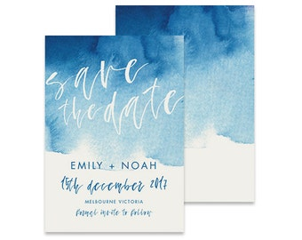Watercolor Save the Date Printable, Brushed, Save the Date Invitation, Wedding Invite, Engagement Announcement, Engagement Invitation