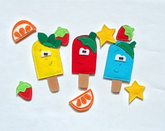 Brooches, kids brooch, ice cream, brooches for kids, present for birthday, gift for kids, kids accessories