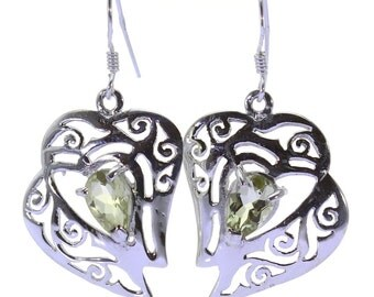 Lemon Quartz Earrings, 925 Sterling Silver, Unique only 1 piece available! color yellow, weight 4.1g, #38866
