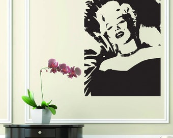 Marilyn Monroe Portret Bedroom Wall Art Vinyl Sticker Decal Mural Gift  Birthday Wedding Anniversary Home Decor Part 96