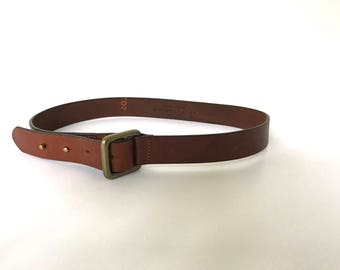 Vintage Size Large Brown Leather Belt