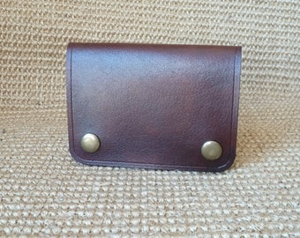 SCKLeather Handmade Minimalist Wallet made from Veg Tan Buffalo Calf .