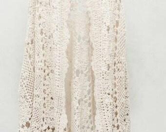 Handmade crochet cape, crochet jacket, crochet shawl