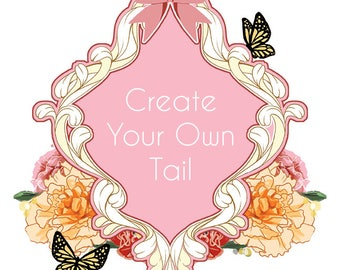 Create Your Own Tipped Cat Tail - Two Colours 25 Inches