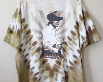 Shredded  Tie Dyed John Fogerty/Creedence T Shirt XX Large