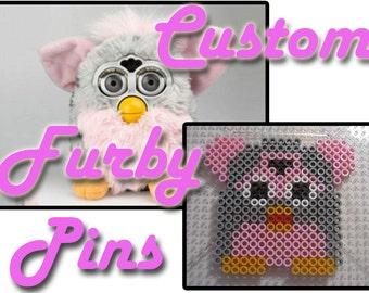 Custom Orginial Furby Pins - Pick Your Colors//1990s, 90s Toys, 90s Kid, Retro Toys, Retro Rave Pin, Harajuku