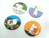 Moomin Family BadgesFridge Magnets  MoomintrollSnorkmaidenMoominmamaMoominpapa