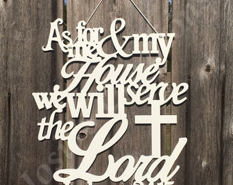 As for me and my house door or wall decor