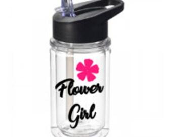 Flower Girl Water Bottle - Water Bottle - FREE Shipping