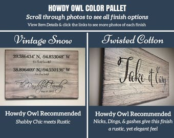 Color Pallett For Howdy Owl Carved Wooden Quote Signs Please Visit Our Shop To