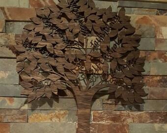 Fruit of the Spirit Laser Cut Tree