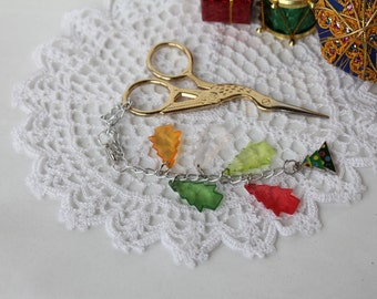 "Christmas Collection: ""Christmas tree"" - OOAK Scissor Fob / Scissor Keeper / Scissor Minder !!!20% off!!!"