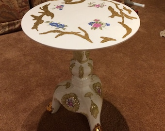 Hand Painted Porcelain Table
