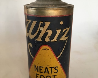 1920s Whiz oil can, Hollingshead Co