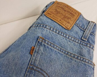 levis 505 orange tag distressed regular straight leg 33w x 30l