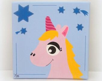 Peinture hibou pour enfant d coration chambre enfant b b for Decoration licorne chambre