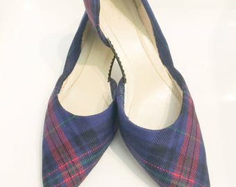 Welsh Tartan Shoes, Hughes Plaid, Welsh Plaid, Hughes Tartan, Tartan Wedding Shoes, Bridal Shoes, Celtic,