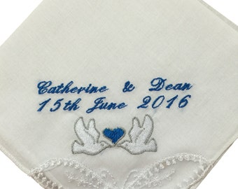 Personalised ladies handkerchief