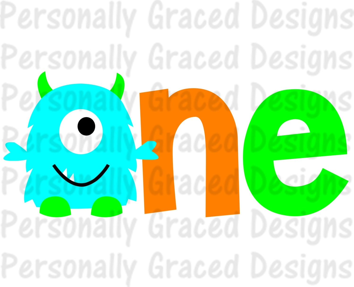 Kids Space Wall Stickers Svg Dxf Eps Cut File First Birthday Monster One Svg