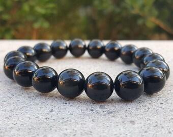 Obsidian Stretch Bracelet, Obsidian Bracelet, Obsidian Stone, Obsidian, Stretch Bracelet, Black Obsidian, Black Obsidian Stretch Bracetet