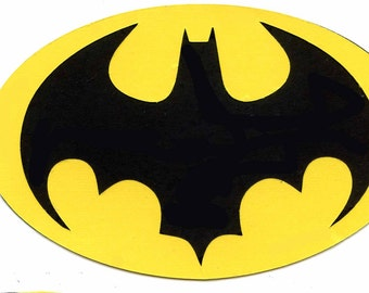 Pack Of 3 Bat Symbol Stencils Made From 4 Ply Mat Board