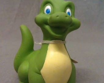 Green with Yellow Breast Dinosaur Figurine
