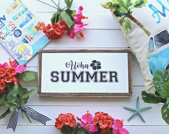 Tropical sign ~ Aloha Sign ~ Summer sign