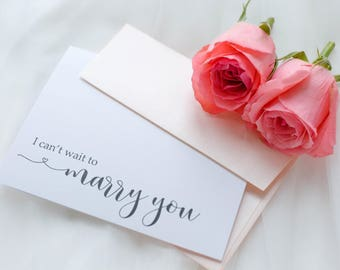 I Cant Wait To Marry You Card Wedding Day Bride
