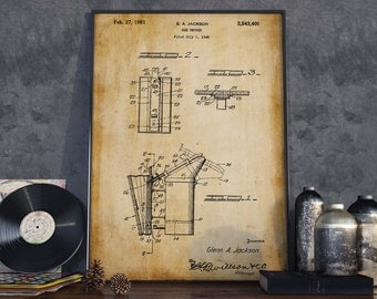 Bee Smoker Patent Poster| Beekeeper Gift| Farmhouse Decor| Beekeeping Gift| Farmer Wall Art| HPH184