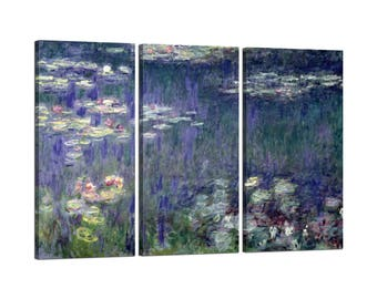 On canvas Claude Monet's Waterlilies frame: Green Reflections