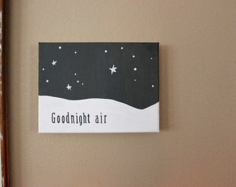 Goodnight Air-Goodnight Moon hand painted canvas