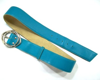 Leather Belt, Vintage Leather Belt, Women's Leather Belt