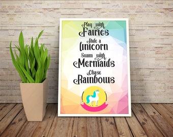 Ride a Unicorn poster (Design 02)
