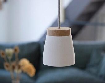 Frida XL white hanging lamp powder-coated incl. LED E27