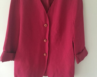 1980's Hot Pink Blazer Jacket