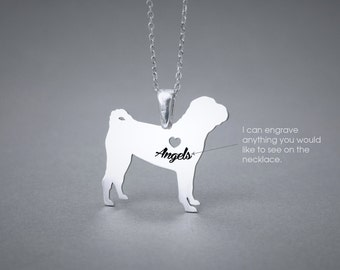 SHAR PEI NAME Necklace - Shar-Pei Name Jewelry - Personalised Necklace - Dog breed Necklace- Dog Necklace