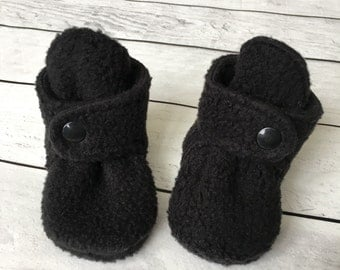 Fleece Baby Boots | Baby Booties | Newborn Boots | Baby Shoes | Soft Baby Boots