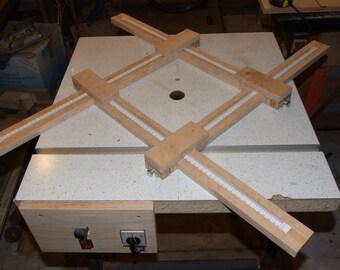 Frame for making wooden saucers - Digital PDF plan, Router table jig, Frame for making wooden plates, Frame for making square wooden saucers