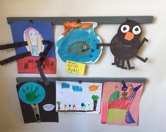 Playroom Decor - Art Display - Kids Art Display - Kitchen Decor - Rustic Home Decor - Wood Signs - Wood Wall Art - Art Display Board - Art