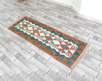 Vintage Kilim Rug - Faded Color Rug - about 50 years old Kilim Rug