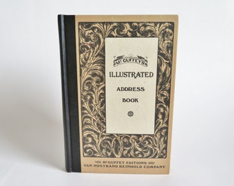 Vintage Address Book, McGuffey's Illustrated Address Book, McGuffey's Eclectic Reader Primer Address Book, Classic McGuffey Illustrations