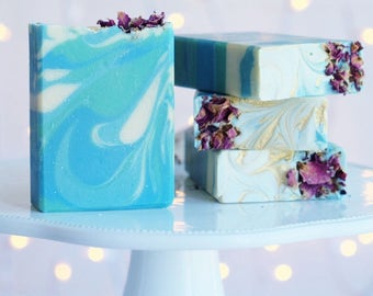 Night Bloomimg Jasmine handcrafted soap featuring Goat Milk and Kaolin Clay