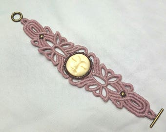 Embroidered Bracelet with Beading