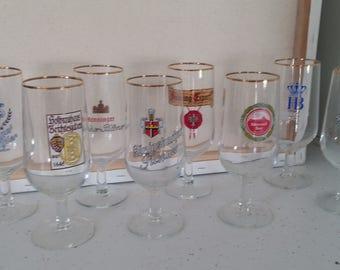 German logo gold trim beer glasses gold trim