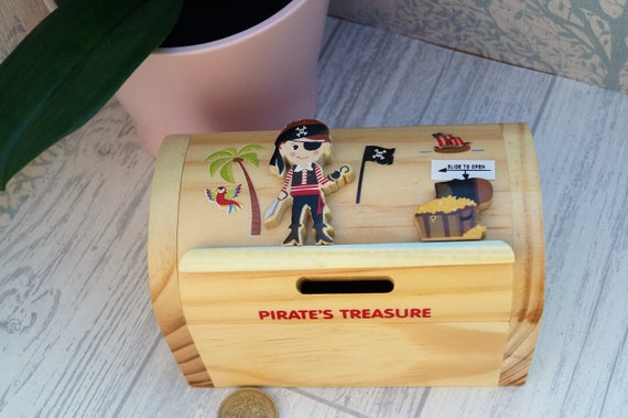 Like this item? & Childrens wooden money box personalised money box pirate Aboutintivar.Com