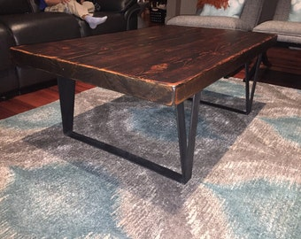 Reclaimed Urban Wood Coffee Table With Custom Leg Base Furniture Made From  Salvaged Barn Wood