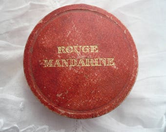Vintage French Rouge Powder Box, French Powder Box, Bourjois Paris Rouge, 1920's